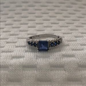 Lab-Created Blue Sapphire 10k Ring Size 6.5